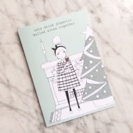 Kay Barker 'Gigantic Mulled Wines' Christmas Card